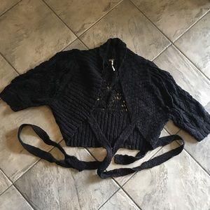 FREE PEOPLE nubby open knit wrap